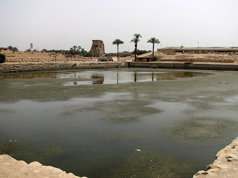 Amun Temple at Karnak - Sacred Lake - Egypt - Luxor ...